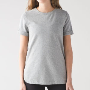 Lululemon All Time Grey Short Sleeve Tee
